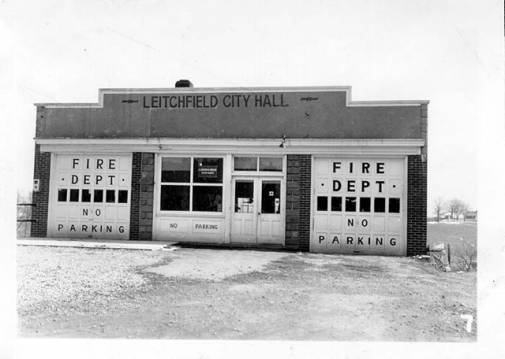 Image of old Leitchfield Fire Station and City Hall